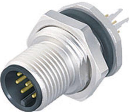 Binder Connector, 12 contacts Panel Mount M12 Socket, Solder IP67