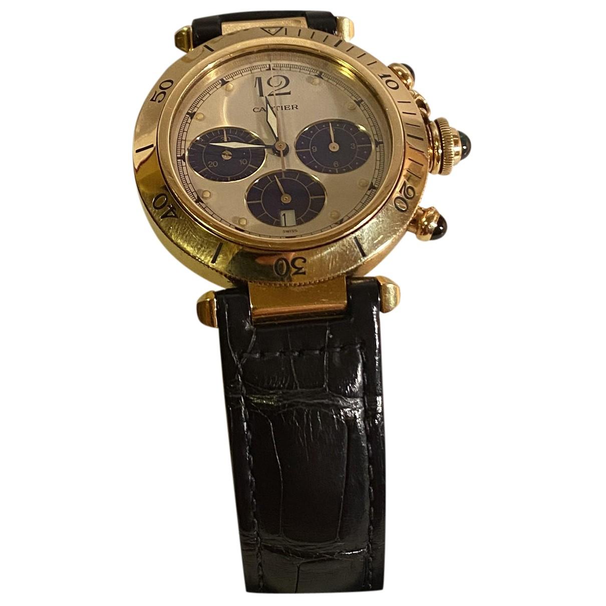 Cartier Pasha Chronographe Uhr in  Gold Gold und Stahl