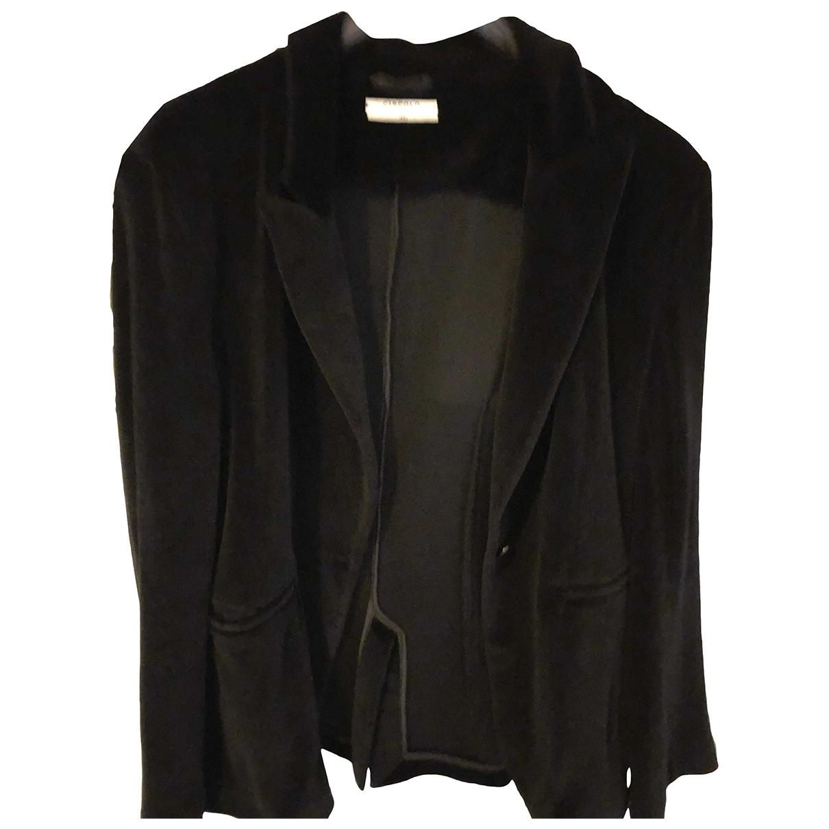 - Veste   pour femme en velours - noir