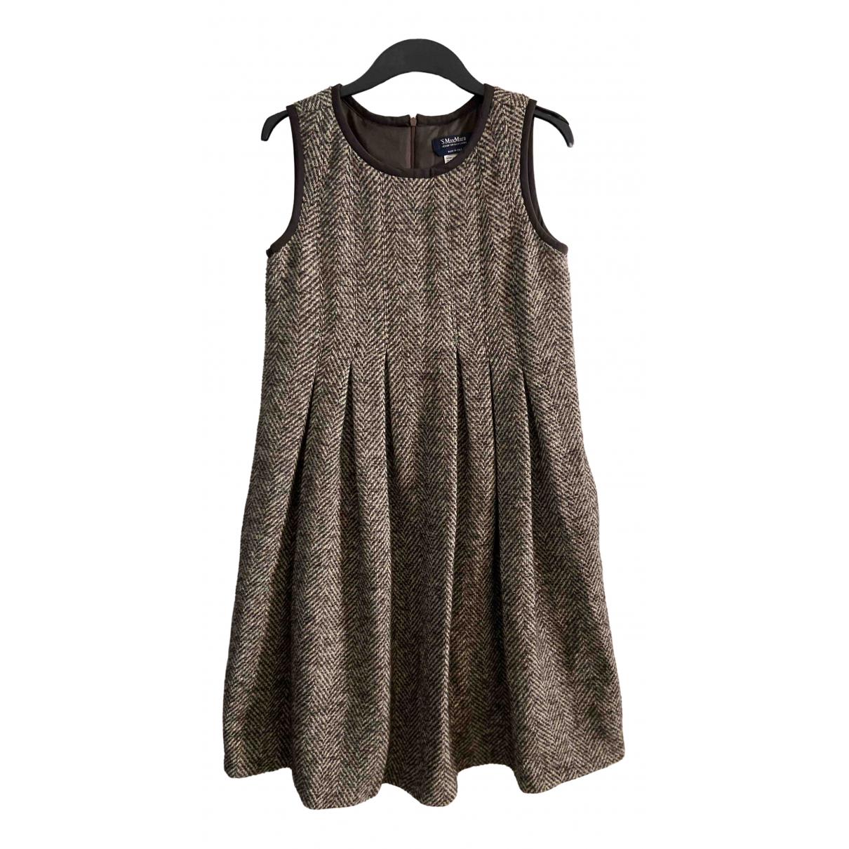 Max Mara s \N Kleid in  Braun Wolle