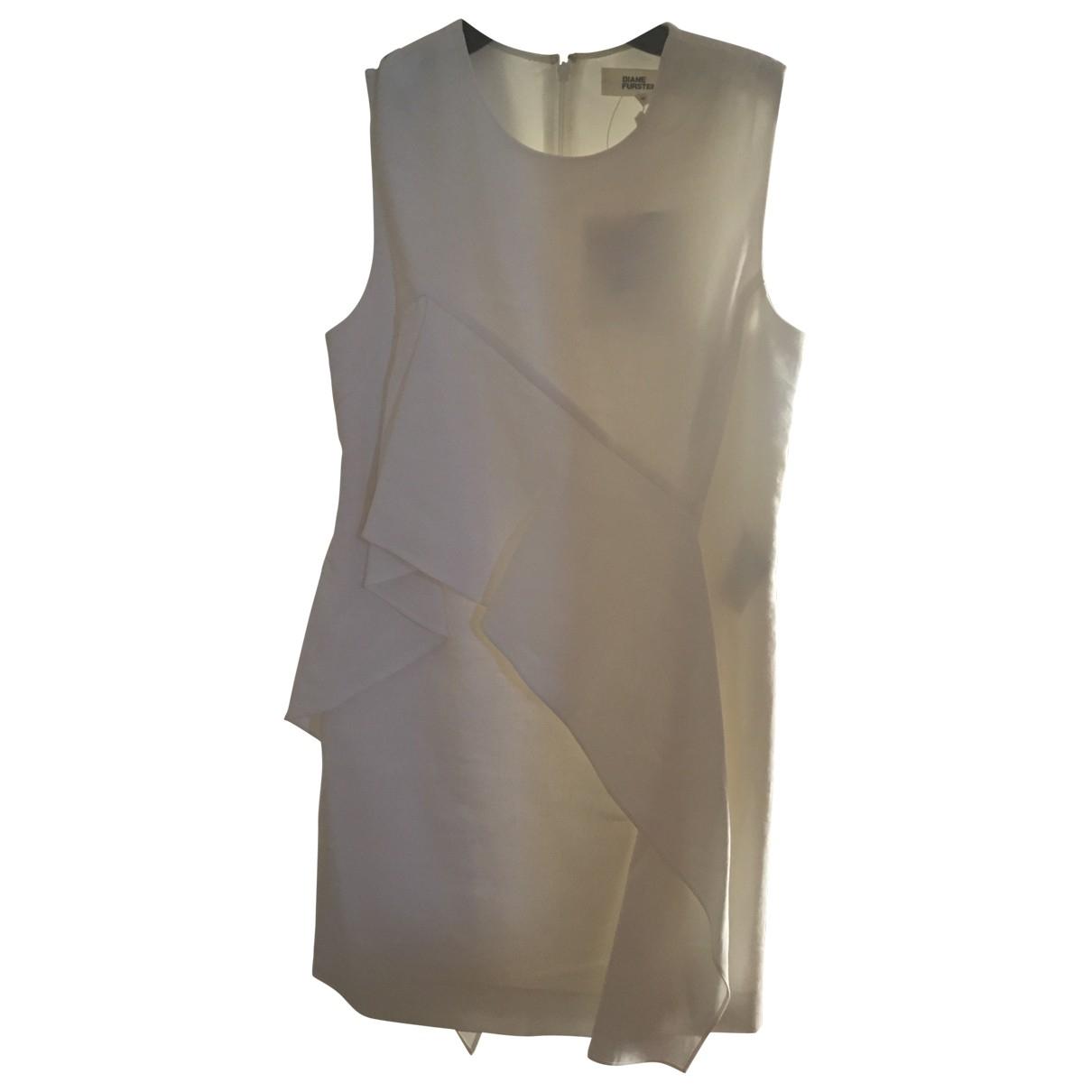 Diane Von Furstenberg \N Kleid in  Weiss Baumwolle