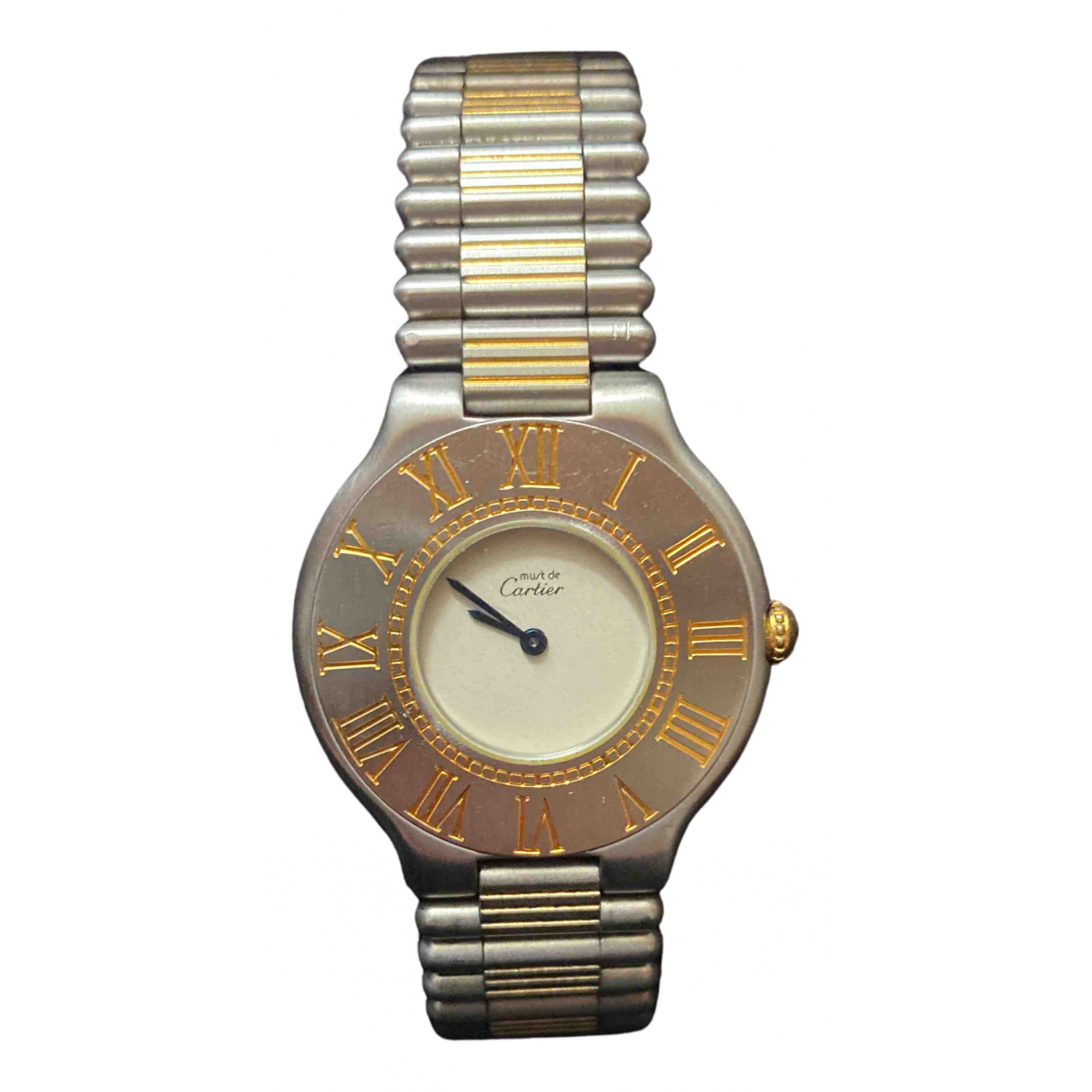 Cartier Must 21 Multicolour gold and steel watch for Women N