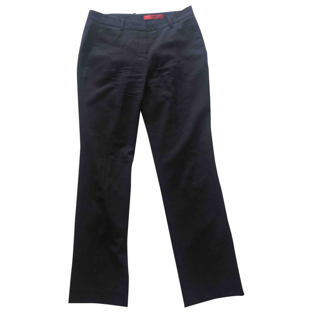 Hugo Boss \N Blue Cotton Trousers for Women 38 IT