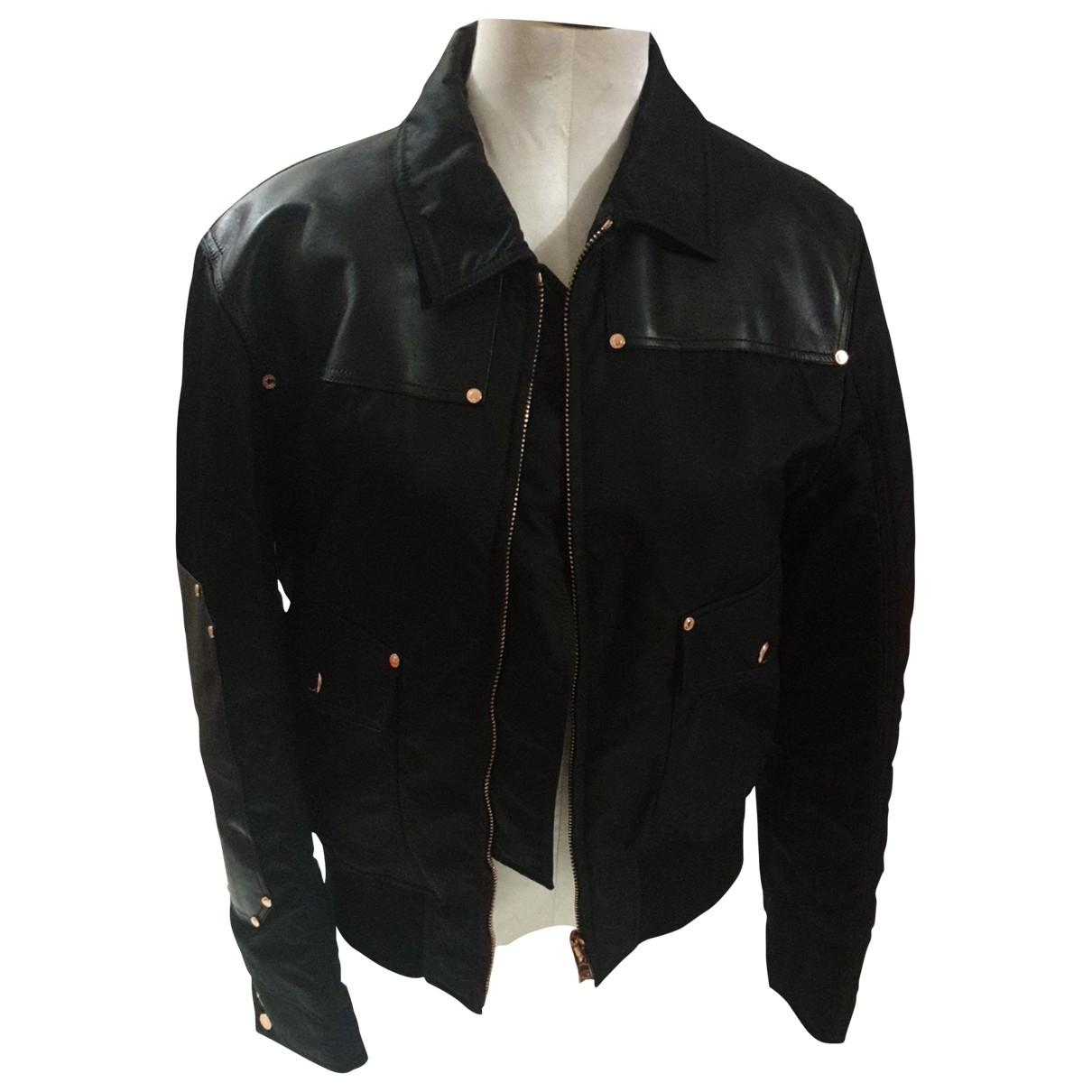 Givenchy \N Jacke in  Schwarz Leder
