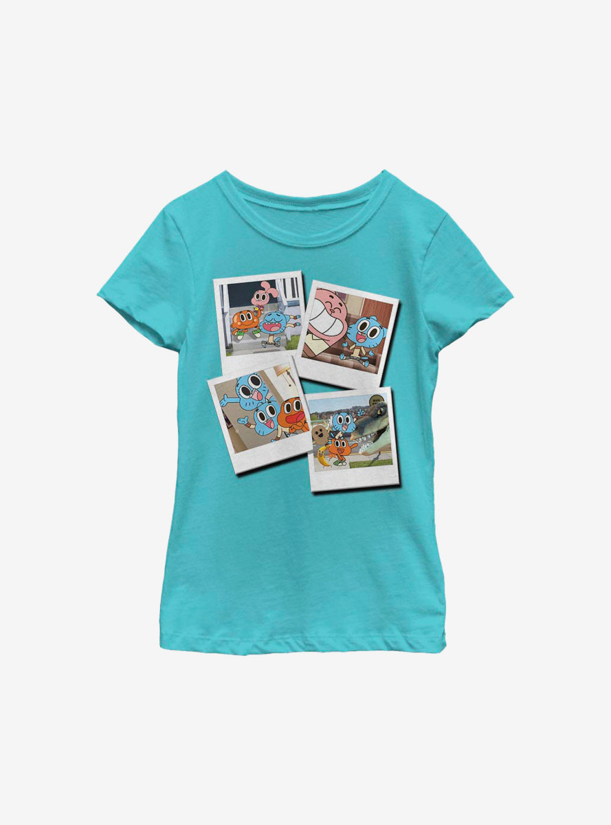 The Amazing World Of Gumball Polaroid Snaps Youth Girls T-Shirt