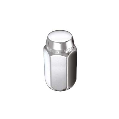 McGard 69403 Hex Lug Nut (Cone Seat) M12X1.25 / 13/16 Hex / 1.28in. Length (Box of 100) - Chrome