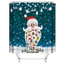 Santa Claus Print Shower Curtain