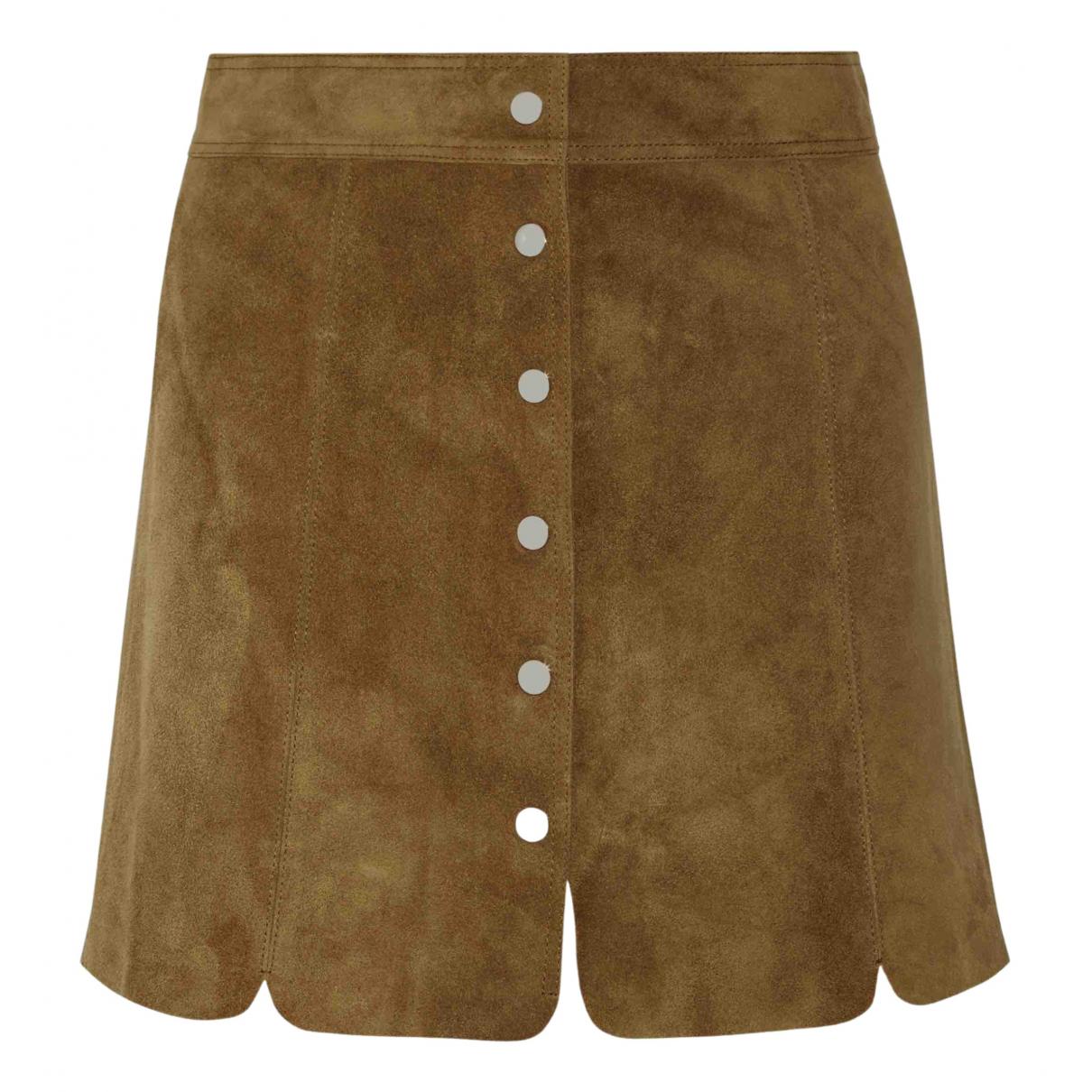 Isabel Marant Etoile \N Camel Suede skirt for Women 40 FR