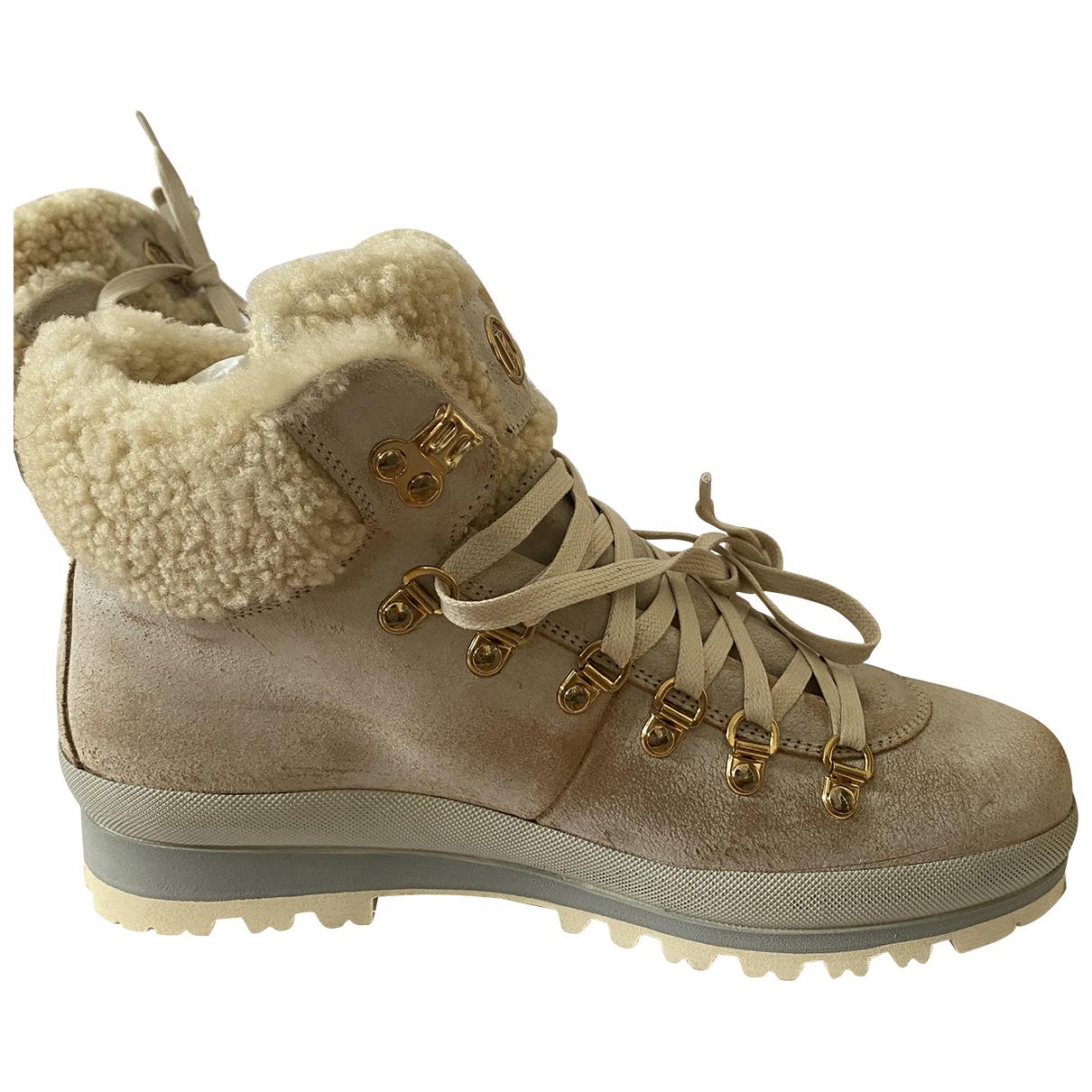 Bogner - Boots   pour femme en cuir - beige