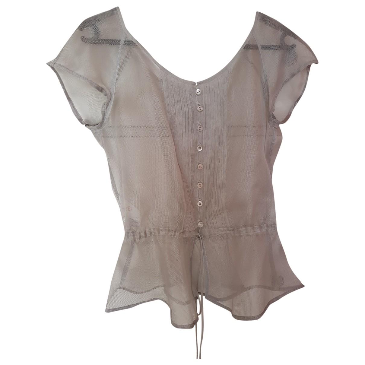 Armani Collezioni - Top   pour femme en soie - gris