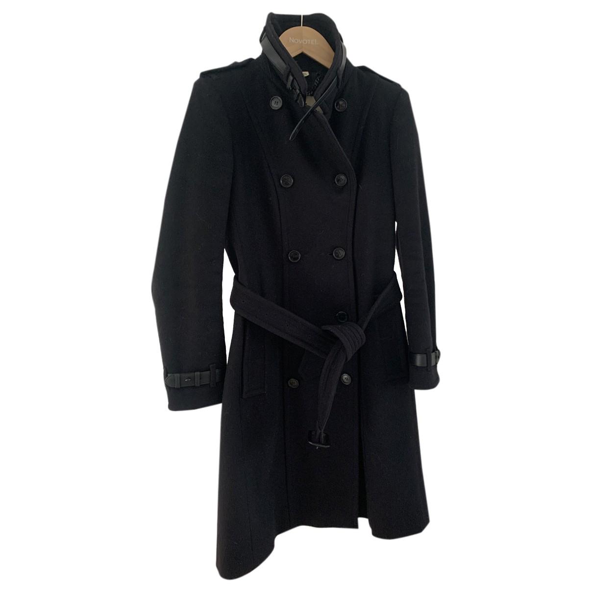 Burberry - Manteau   pour femme en laine - noir