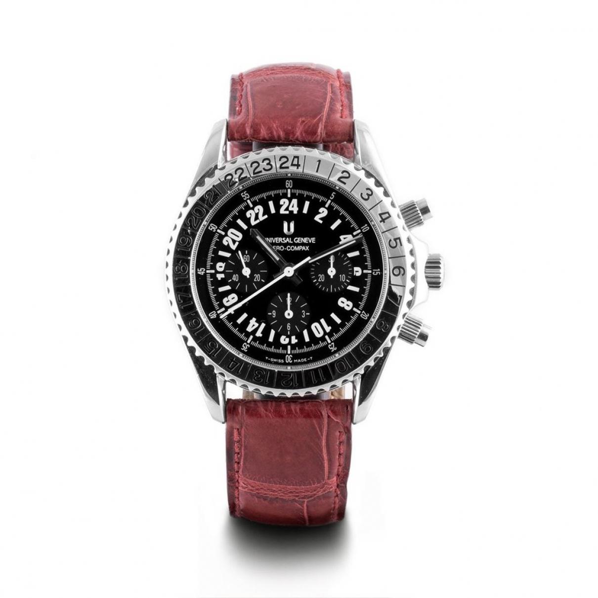 Universal Geneve \N Uhr in  Schwarz Stahl