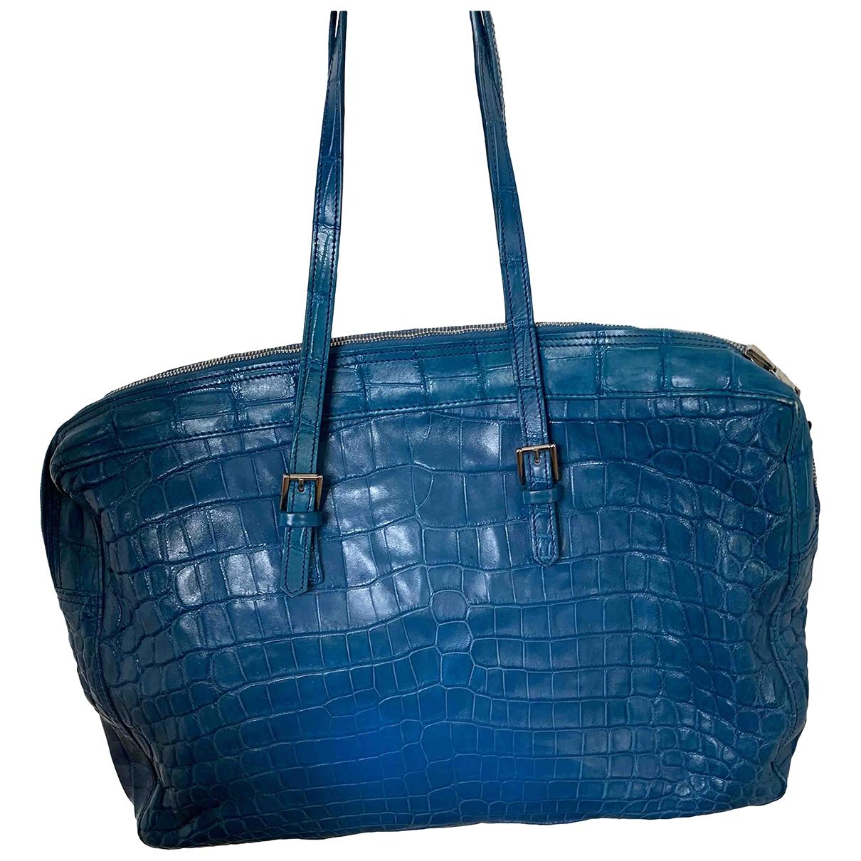Shiro \N Blue Crocodile handbag for Women \N