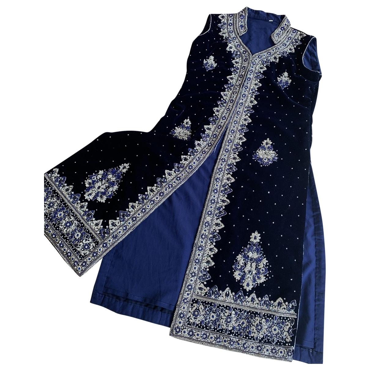 Non Signé / Unsigned \N Navy Velvet jacket for Women 10 UK