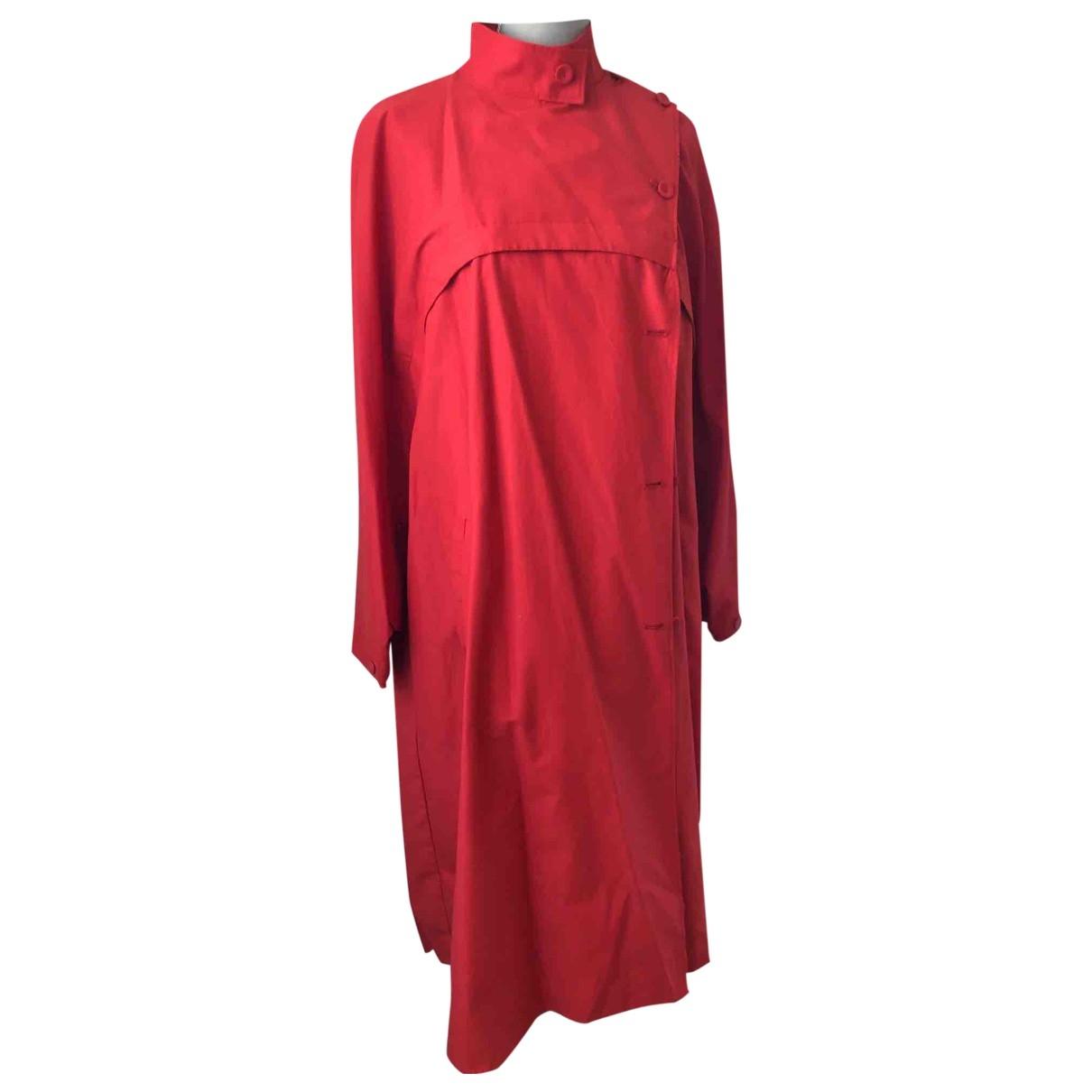 Zara \N Trench in  Rot Baumwolle