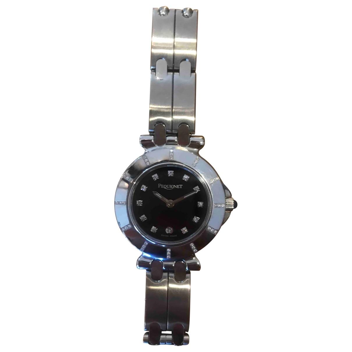 Pequignet \N Silver Steel watch for Women \N