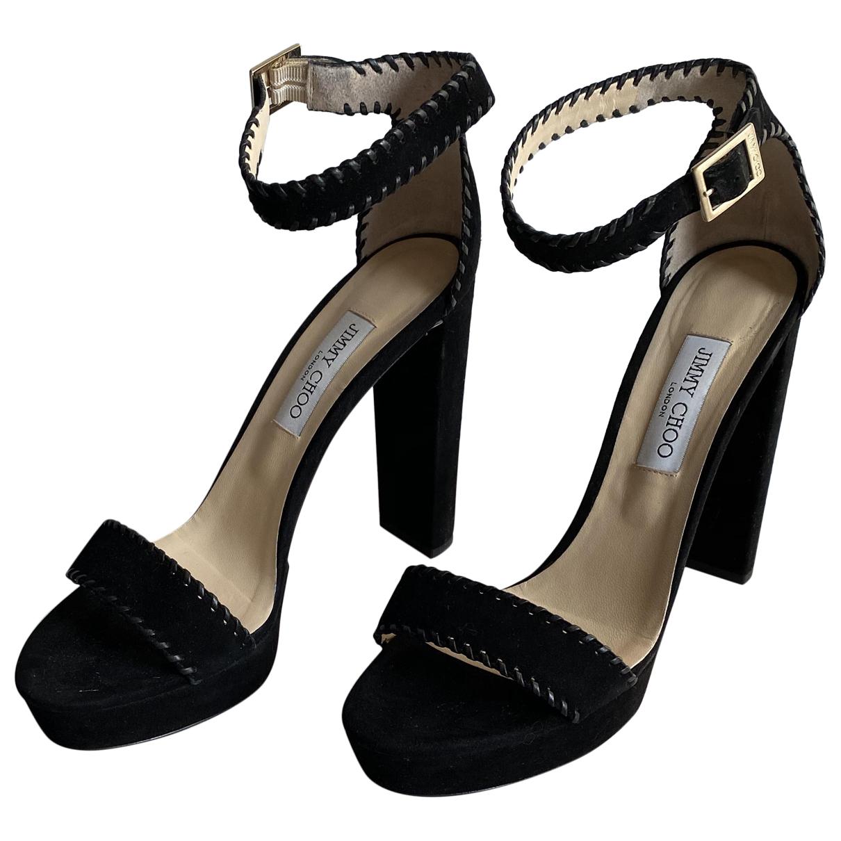 Jimmy Choo N Black Suede Sandals for Women 43 EU