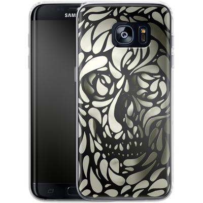 Samsung Galaxy S7 Edge Silikon Handyhuelle - Skull von Ali Gulec