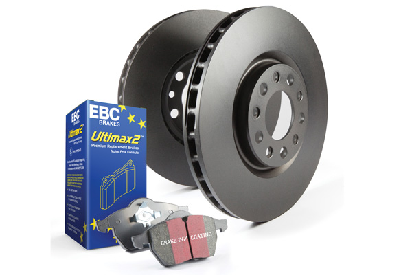 EBC Brakes S1KF1927 S1KF Kit Number Front Disc Brake Pad and Rotor Kit UD1666+RK7640 Ford Mustang Front 2013-2014