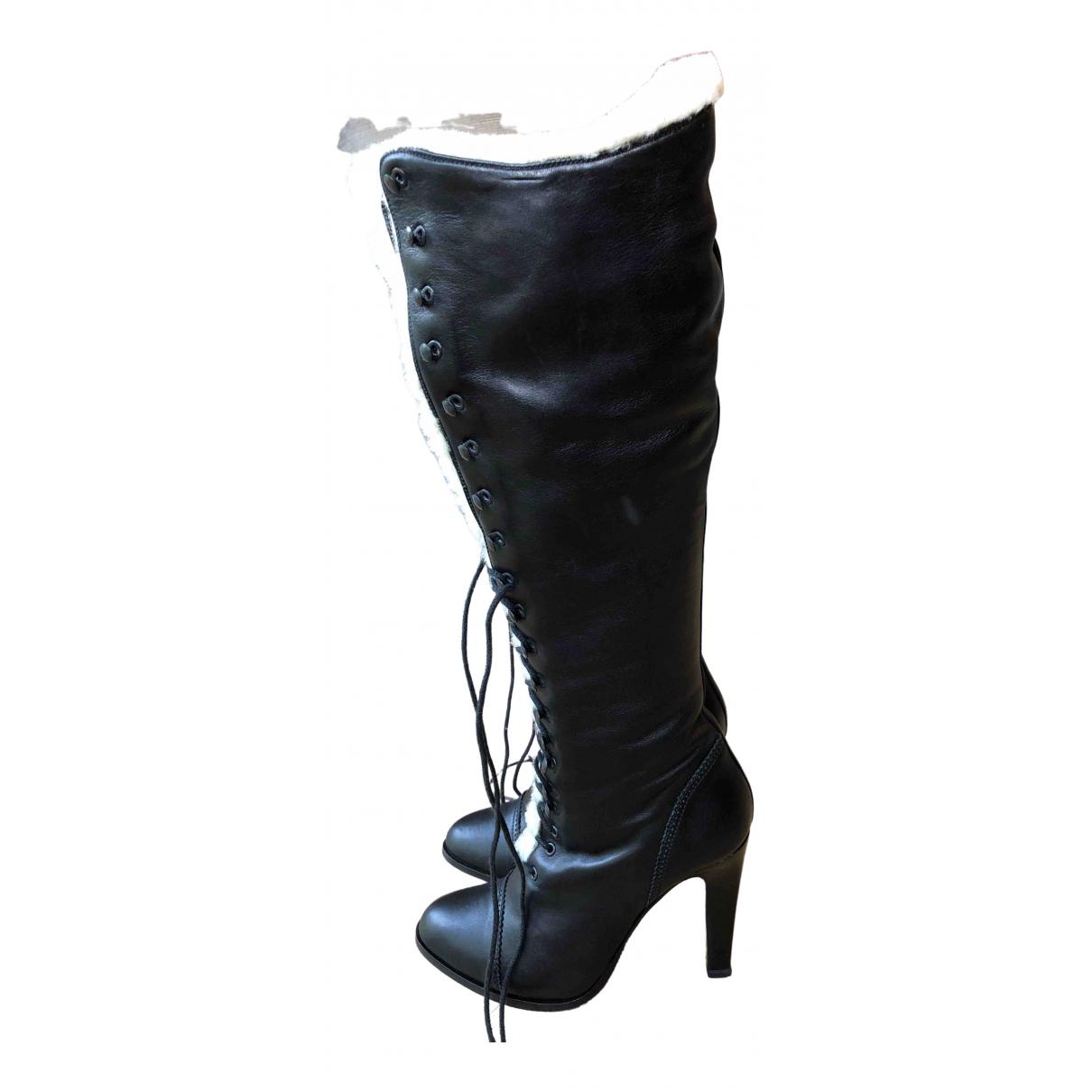 Paul & Joe - Bottes   pour femme en cuir - noir