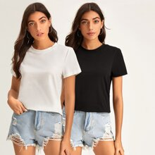 2 Stuecke T-Shirt mit kurzen Ärmeln