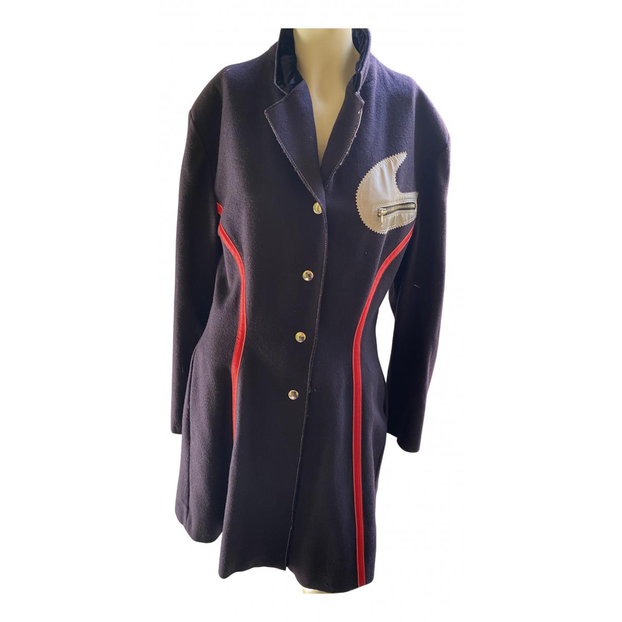 Jean Paul Gaultier - Manteau   pour femme en laine - bleu