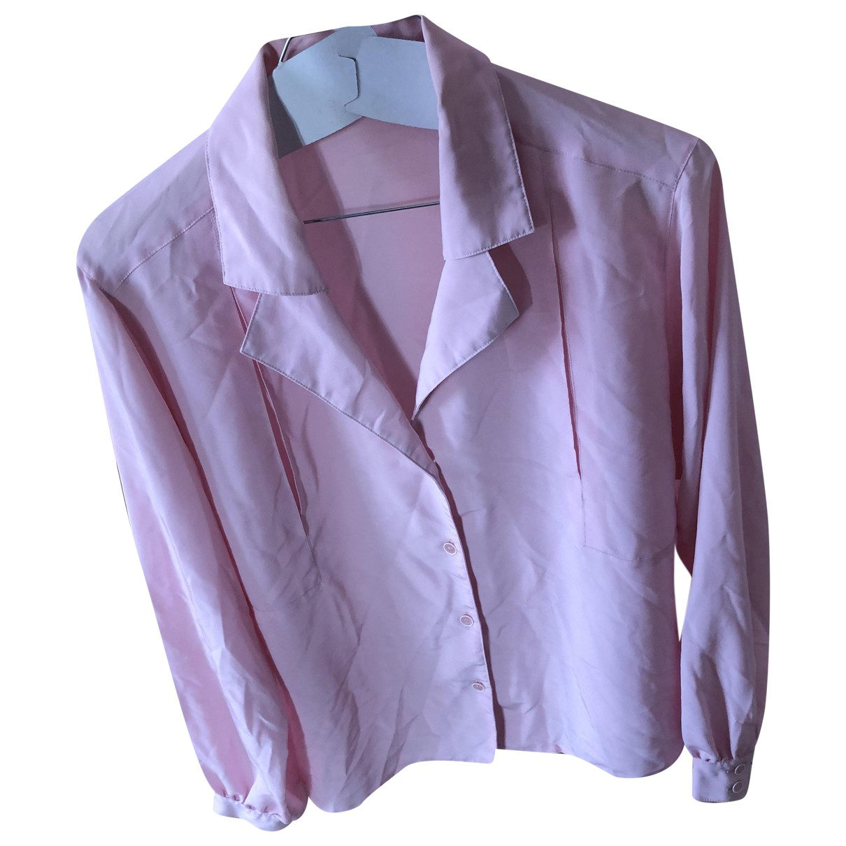 Non Signé / Unsigned N Pink  top for Women L International