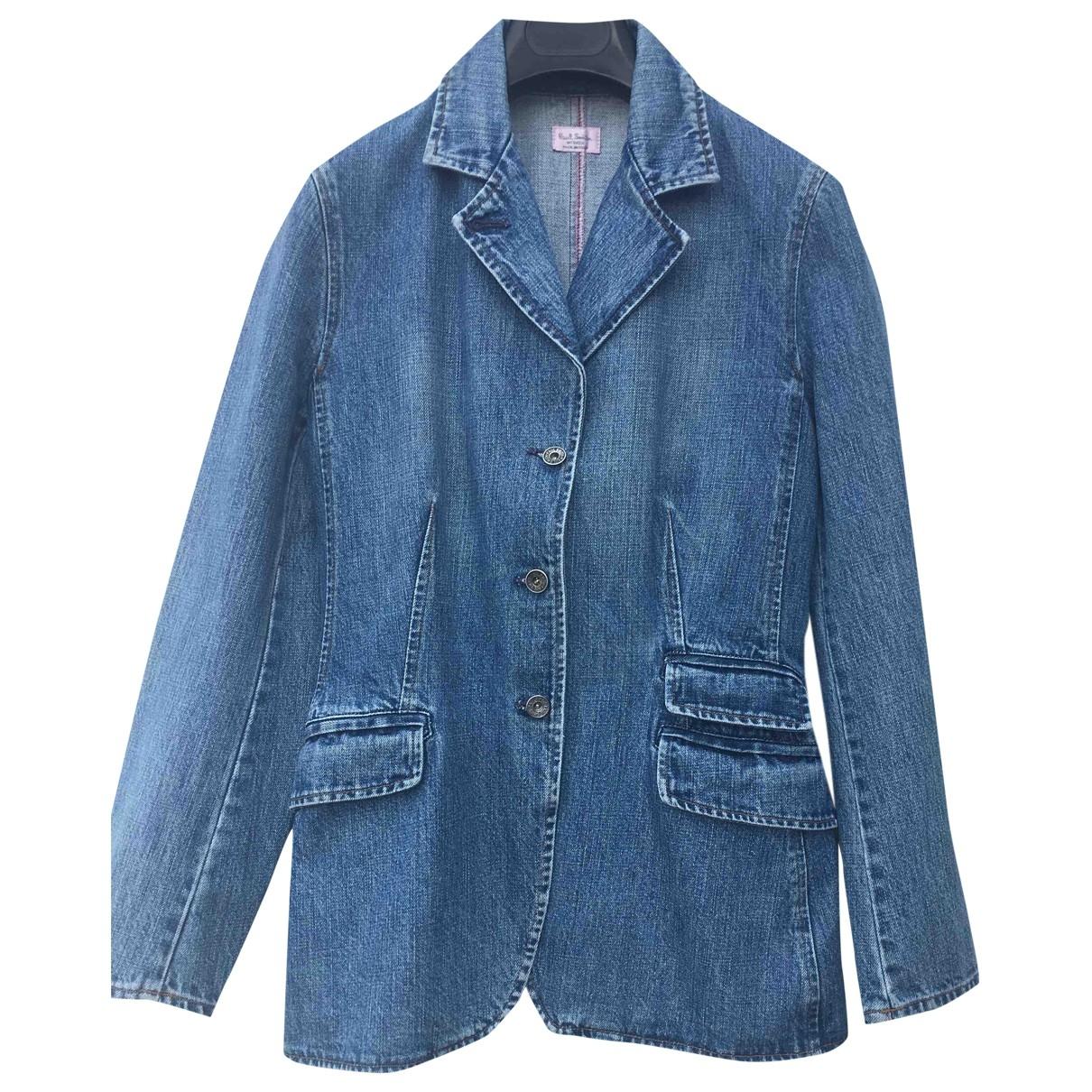 Paul Smith \N Blue Denim - Jeans jacket for Women 42 IT