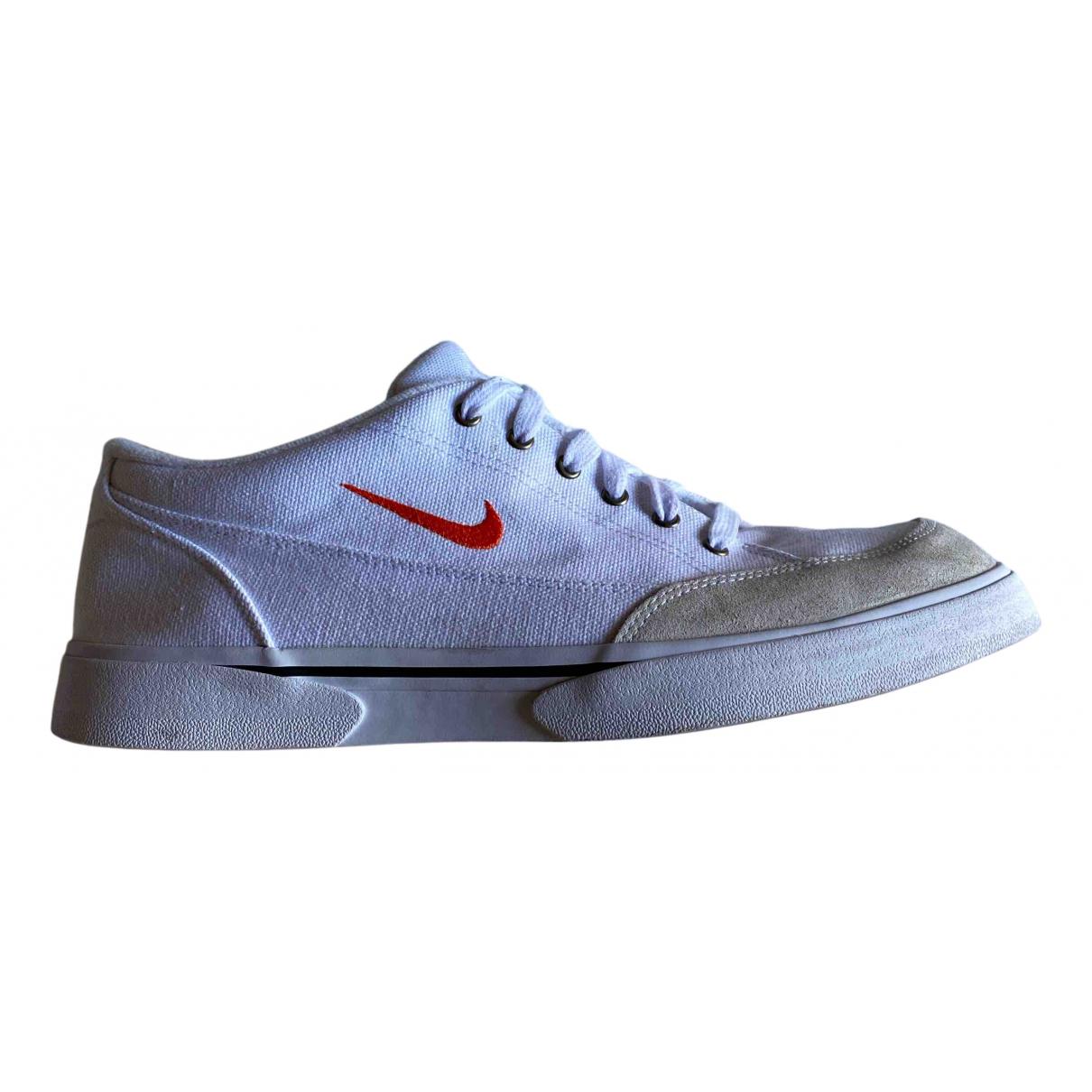 Nike - Baskets   pour homme en toile - blanc