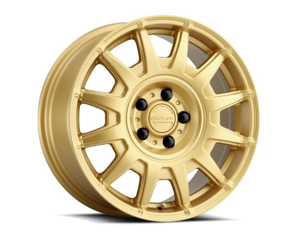 Raceline 401GD Aero Wheel 15x7 5x100 15mm Gloss Gold