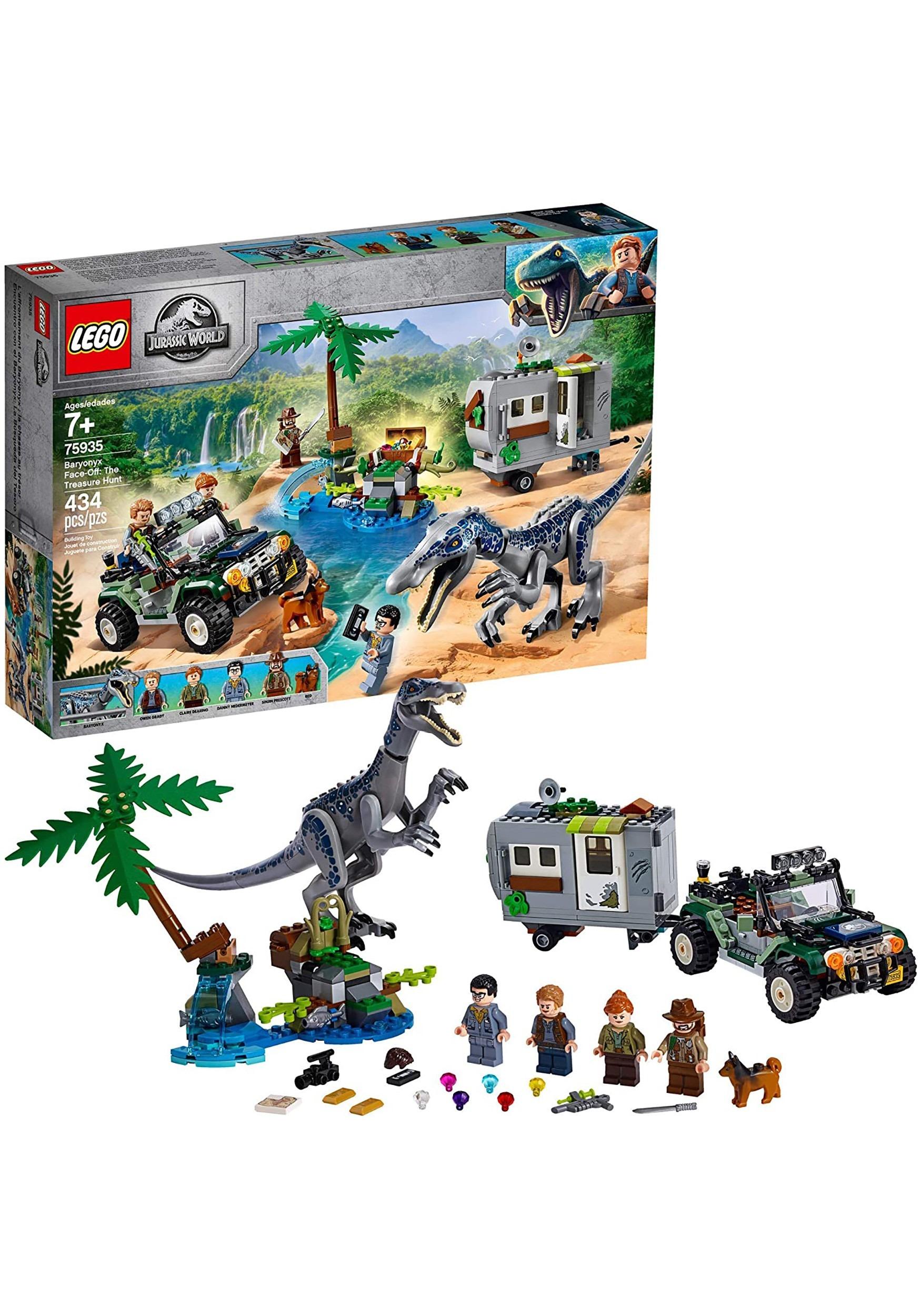 Jurassic World LEGO Baryonyx Face-Off The Treasure