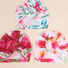 3 Stuecke Baby Hut mit Blumen Muster