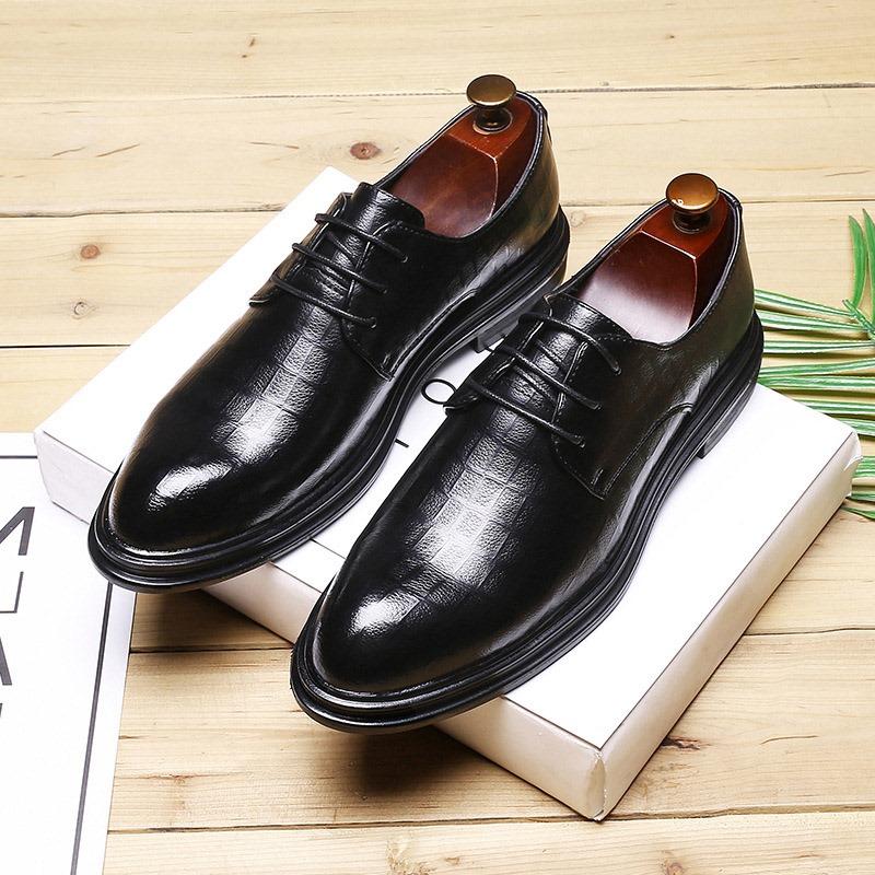 Ericdress Plain Pointed Toe Block Heel Men's Shoes
