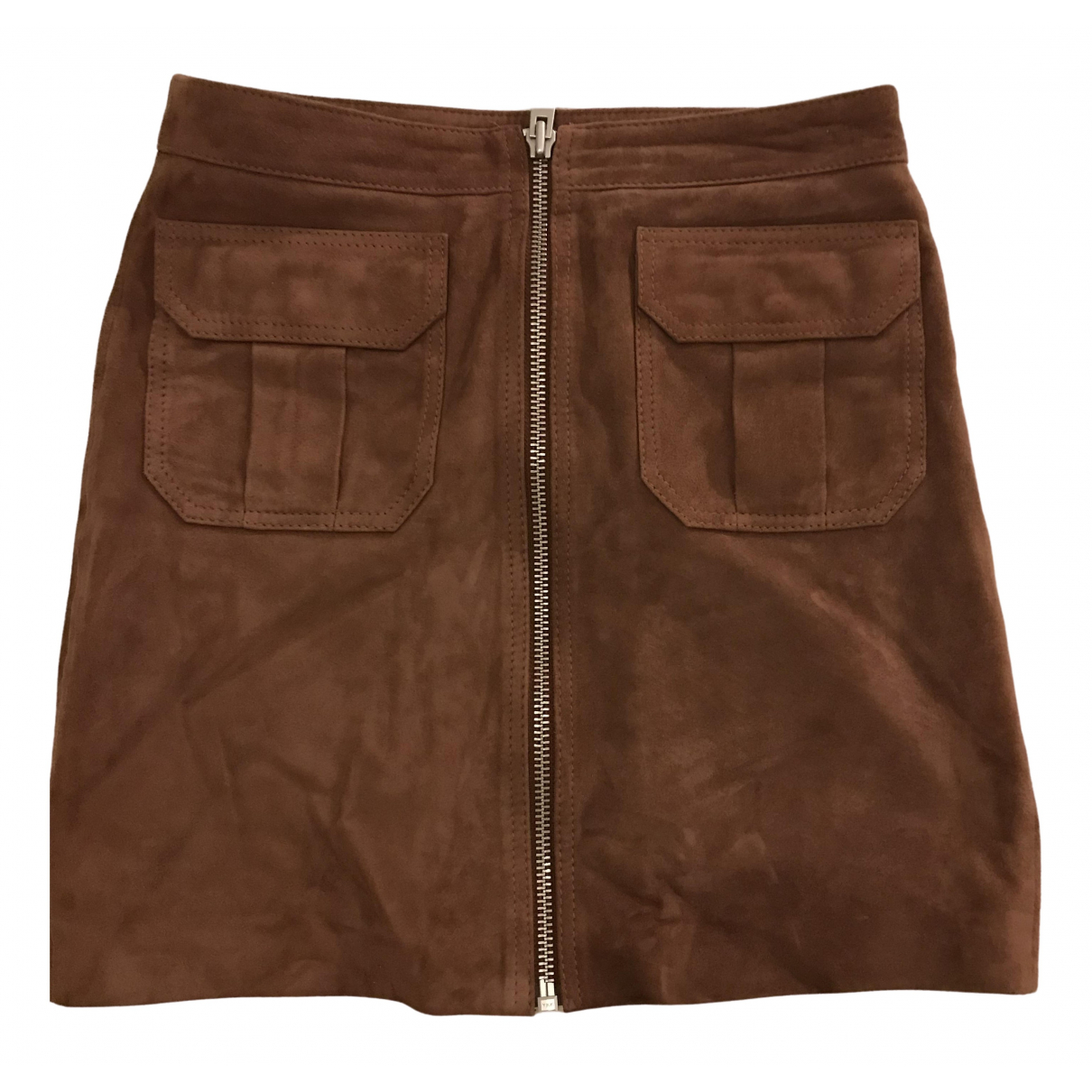 All Saints \N Brown Suede skirt for Women 36 FR