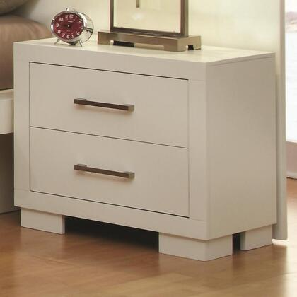 202992 Jessica Nightstand with Two Drawers  Solid Wood  Ash Veneers  Dovetail and Side Drawer Consutrction in