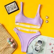 Bikini Badeanzug mit Hohle