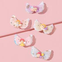 5pcs Toddler Girls Cartoon Hair Clip