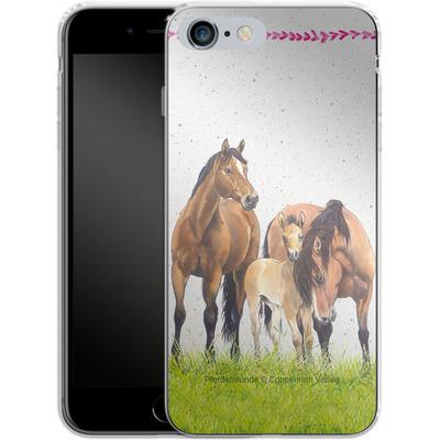 Apple iPhone 6s Plus Silikon Handyhuelle - Pferdefreunde Familie von Pferdefreunde