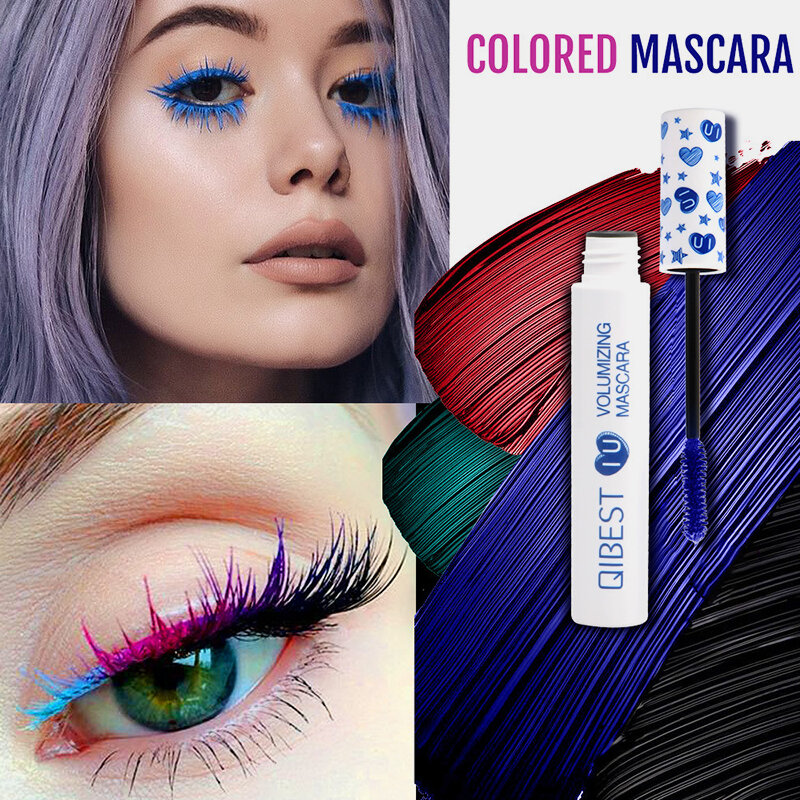 3D Colorful Mascara Long Curling Thick Silky Waterproof Lasting Eyelash Extension Beauty Makeup