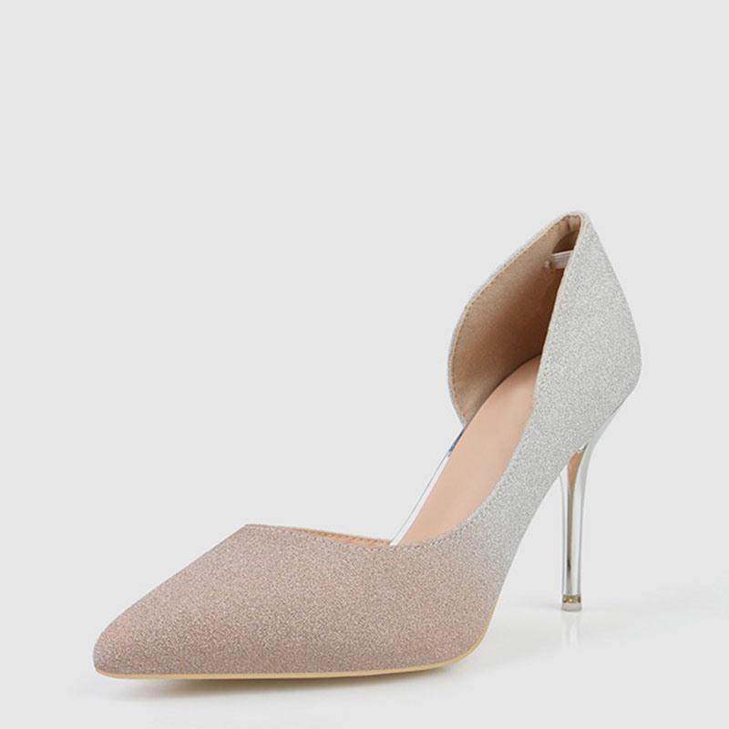 Ericdress Gradient Slip-On Pointed Toe Stiletto Heel Women's Pumps
