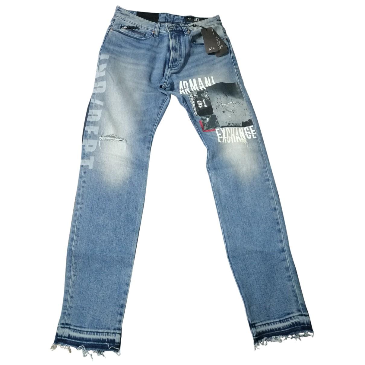Emporio Armani N Blue Cotton Jeans for Men 29 US