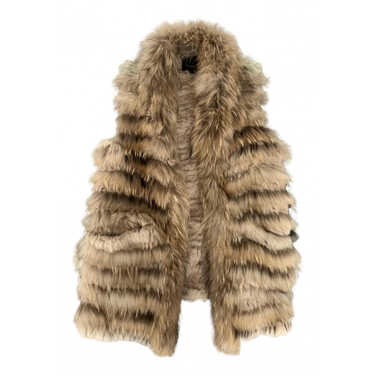 Oakwood N Beige Rabbit coat for Women 36 FR