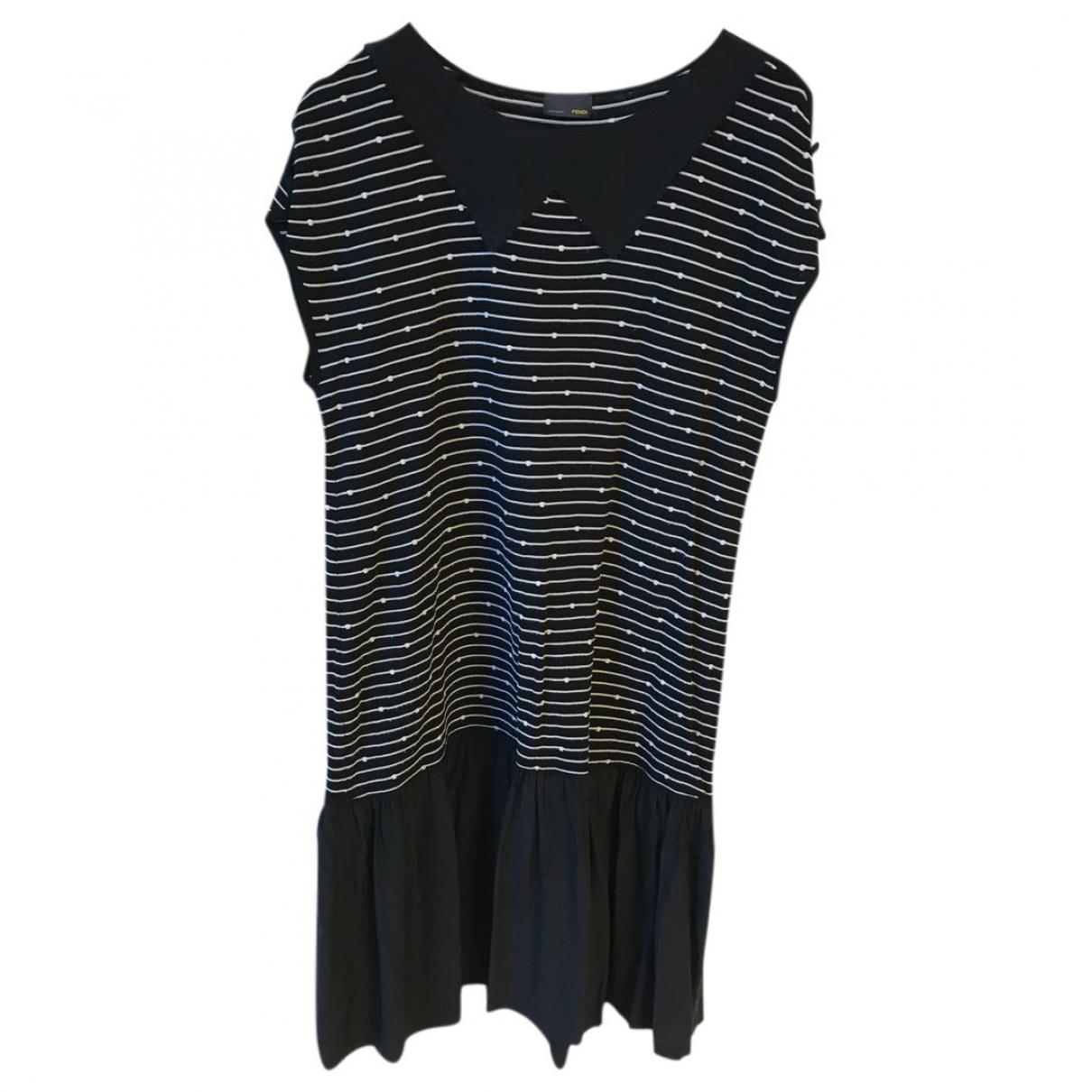 Fendi \N Kleid in  Schwarz Synthetik