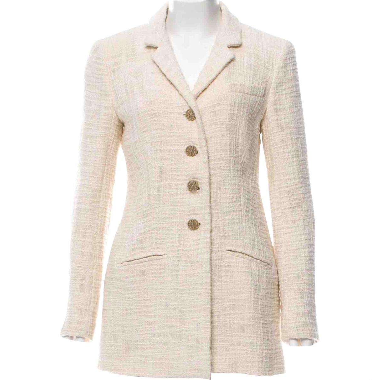 Chanel \N Ecru Cotton jacket for Women 46 FR