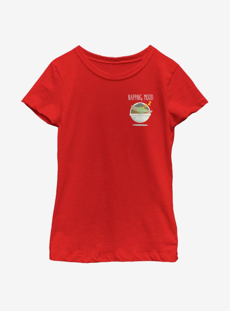 Star Wars The Mandalorian The Child Pocket Nap Youth Girls T-Shirt