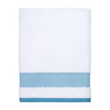 Now House By Jonathan Adler Mercer Geometric Bath Towel, One Size , White