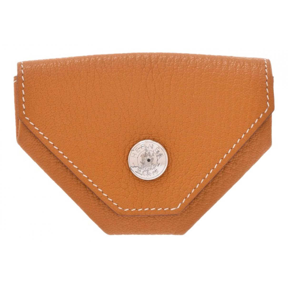 Hermes - Petite maroquinerie 24 pour femme en cuir - marron