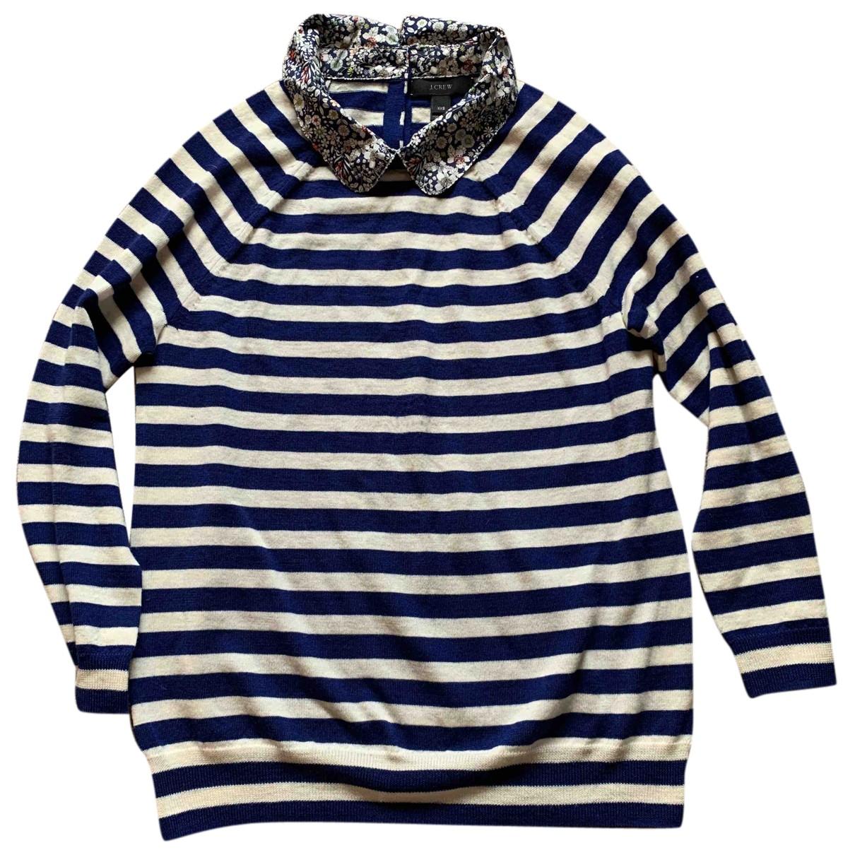 J.crew - Pull   pour femme en laine - bleu