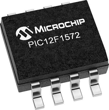 Microchip PIC12F1572T-I/MS, 8bit 8 bit CPU Microcontroller, PIC12F, 32MHz, 3.5 kB Flash, 8-Pin MSOP (2500)