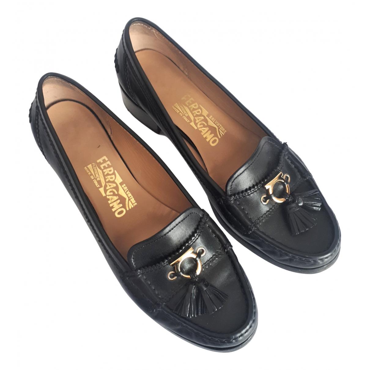 Salvatore Ferragamo \N Black Leather Heels for Women 8 US